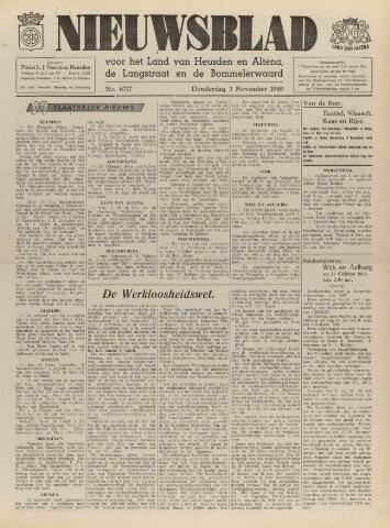 Nieuwsblad het land van Heusden en Altena de Langstraat en de Bommelerwaard 1949-11-03