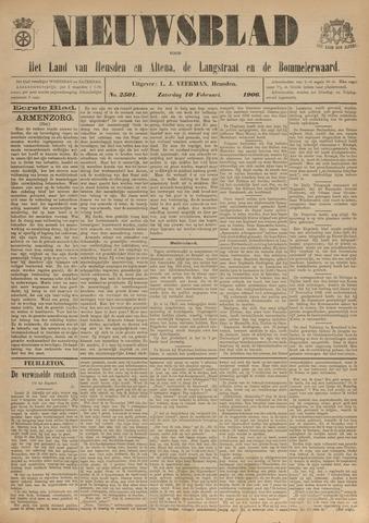 Nieuwsblad het land van Heusden en Altena de Langstraat en de Bommelerwaard 1906-02-10