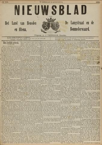 Nieuwsblad het land van Heusden en Altena de Langstraat en de Bommelerwaard 1890-08-13