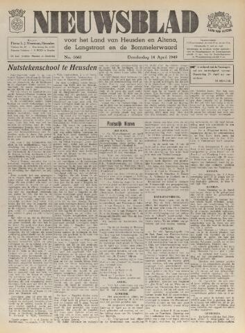 Nieuwsblad het land van Heusden en Altena de Langstraat en de Bommelerwaard 1949-04-14