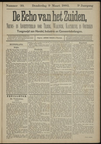Echo van het Zuiden 1882-03-09