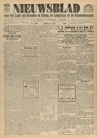 Nieuwsblad het land van Heusden en Altena de Langstraat en de Bommelerwaard 1932-06-17