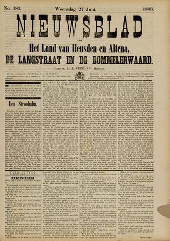 Nieuwsblad het land van Heusden en Altena de Langstraat en de Bommelerwaard 1883-06-27