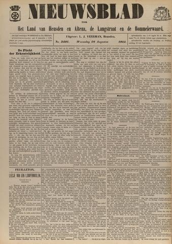 Nieuwsblad het land van Heusden en Altena de Langstraat en de Bommelerwaard 1915-08-18