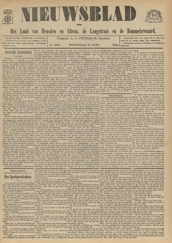 Nieuwsblad het land van Heusden en Altena de Langstraat en de Bommelerwaard 1904-06-22