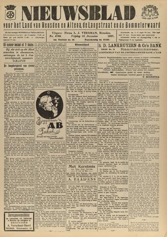 Nieuwsblad het land van Heusden en Altena de Langstraat en de Bommelerwaard 1927-12-16