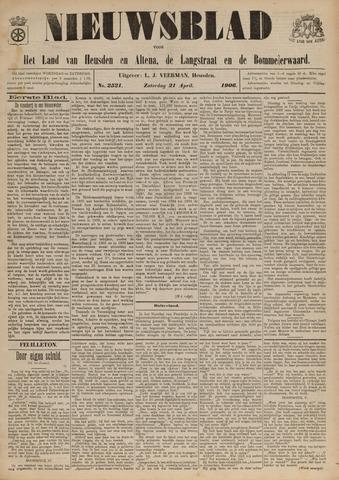 Nieuwsblad het land van Heusden en Altena de Langstraat en de Bommelerwaard 1906-04-21