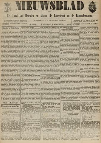 Nieuwsblad het land van Heusden en Altena de Langstraat en de Bommelerwaard 1893-08-09