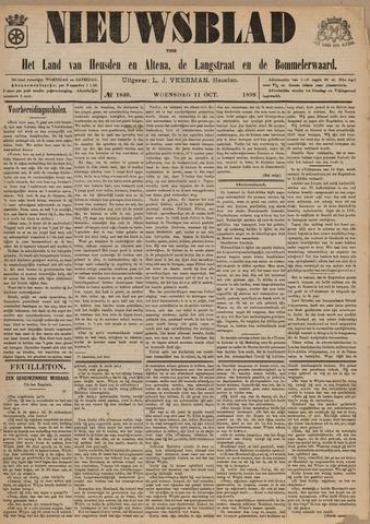 Nieuwsblad het land van Heusden en Altena de Langstraat en de Bommelerwaard 1899-10-11