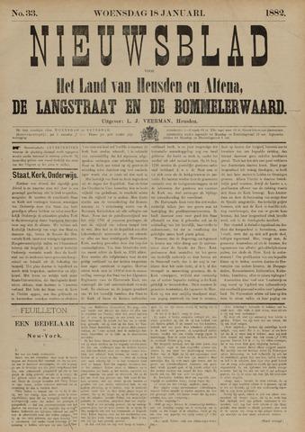 Nieuwsblad het land van Heusden en Altena de Langstraat en de Bommelerwaard 1882-01-18