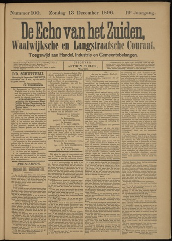 Echo van het Zuiden 1896-12-13