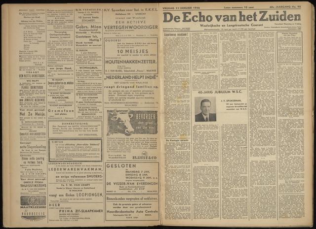 Echo van het Zuiden 1946-01-11