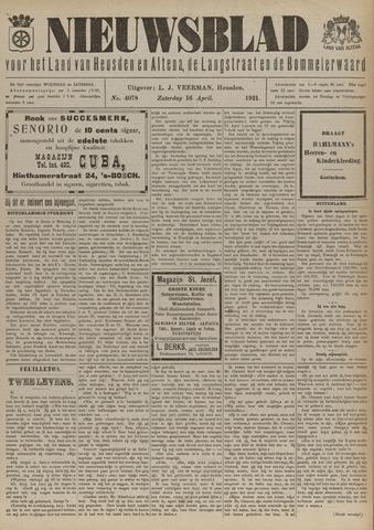 Nieuwsblad het land van Heusden en Altena de Langstraat en de Bommelerwaard 1921-04-16