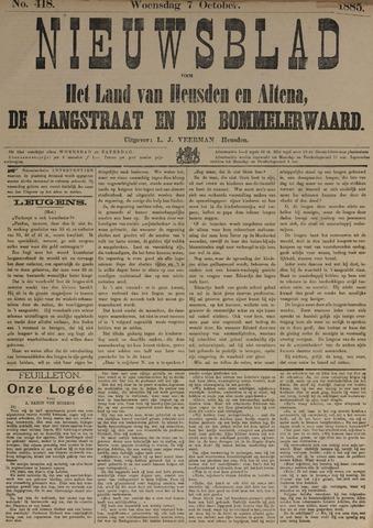 Nieuwsblad het land van Heusden en Altena de Langstraat en de Bommelerwaard 1885-10-07
