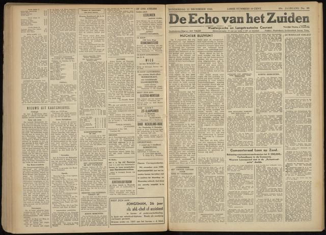 Echo van het Zuiden 1946-12-12