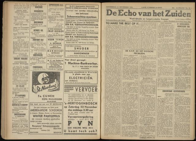 Echo van het Zuiden 1946-11-21