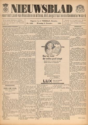 Nieuwsblad het land van Heusden en Altena de Langstraat en de Bommelerwaard 1921-11-02