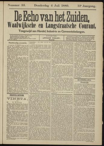 Echo van het Zuiden 1889-07-04