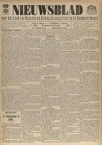 Nieuwsblad het land van Heusden en Altena de Langstraat en de Bommelerwaard 1923-11-21