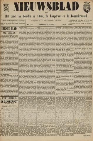 Nieuwsblad het land van Heusden en Altena de Langstraat en de Bommelerwaard 1895-09-14