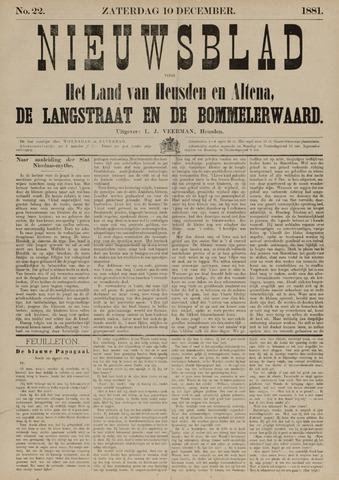 Nieuwsblad het land van Heusden en Altena de Langstraat en de Bommelerwaard 1881-12-10