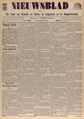 Nieuwsblad het land van Heusden en Altena de Langstraat en de Bommelerwaard 1909-08-25