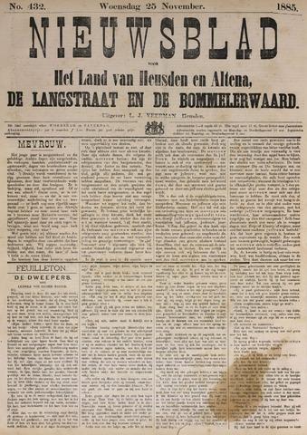 Nieuwsblad het land van Heusden en Altena de Langstraat en de Bommelerwaard 1885-11-25