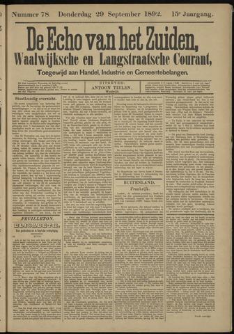 Echo van het Zuiden 1892-09-29