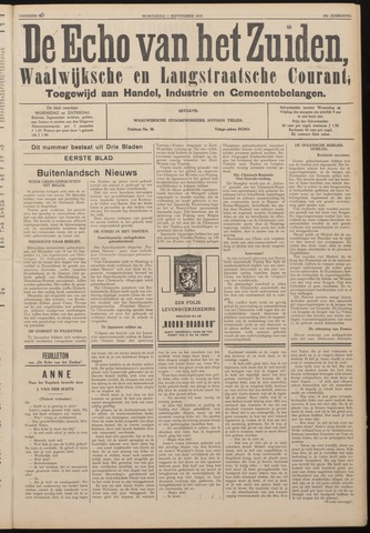 Echo van het Zuiden 1937-09-01