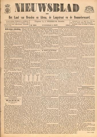 Nieuwsblad het land van Heusden en Altena de Langstraat en de Bommelerwaard 1904-11-02