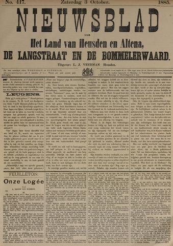 Nieuwsblad het land van Heusden en Altena de Langstraat en de Bommelerwaard 1885-10-03