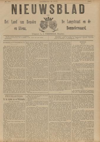 Nieuwsblad het land van Heusden en Altena de Langstraat en de Bommelerwaard 1887-07-30