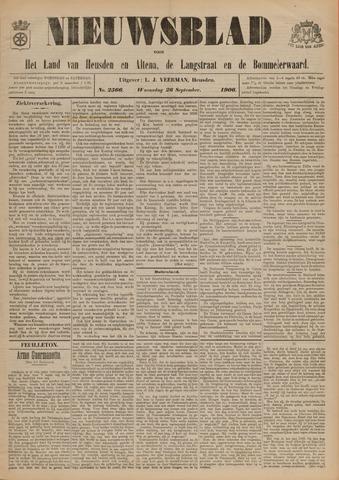 Nieuwsblad het land van Heusden en Altena de Langstraat en de Bommelerwaard 1906-09-26