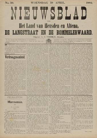 Nieuwsblad het land van Heusden en Altena de Langstraat en de Bommelerwaard 1882-04-19