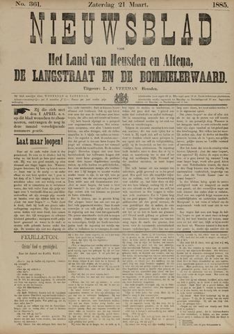 Nieuwsblad het land van Heusden en Altena de Langstraat en de Bommelerwaard 1885-03-21