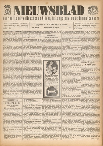 Nieuwsblad het land van Heusden en Altena de Langstraat en de Bommelerwaard 1922-04-05