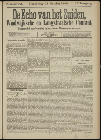 Echo van het Zuiden 1888-10-18