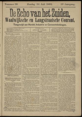 Echo van het Zuiden 1892-07-24