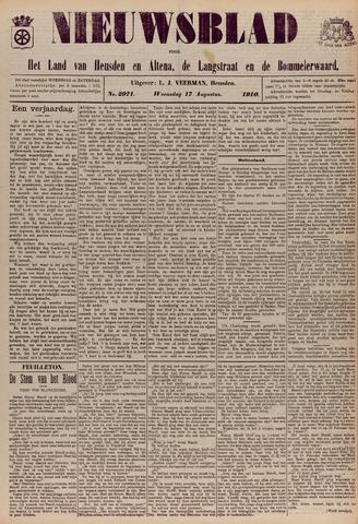 Nieuwsblad het land van Heusden en Altena de Langstraat en de Bommelerwaard 1910-08-17