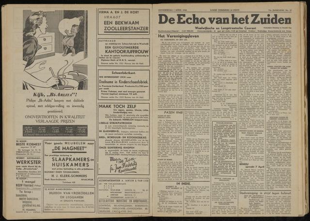Echo van het Zuiden 1948-04-01