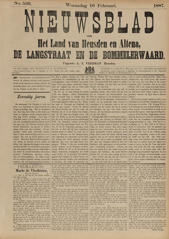 Nieuwsblad het land van Heusden en Altena de Langstraat en de Bommelerwaard 1887-02-16