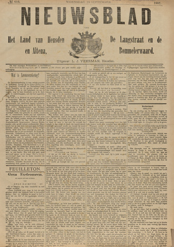 Nieuwsblad het land van Heusden en Altena de Langstraat en de Bommelerwaard 1887-09-28