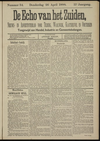 Echo van het Zuiden 1888-04-26