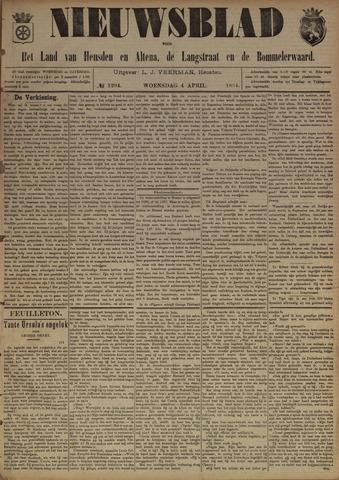 Nieuwsblad het land van Heusden en Altena de Langstraat en de Bommelerwaard 1894-04-04
