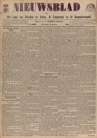 Nieuwsblad het land van Heusden en Altena de Langstraat en de Bommelerwaard 1911-10-04