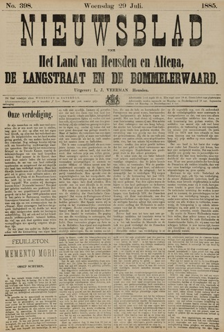 Nieuwsblad het land van Heusden en Altena de Langstraat en de Bommelerwaard 1885-07-29