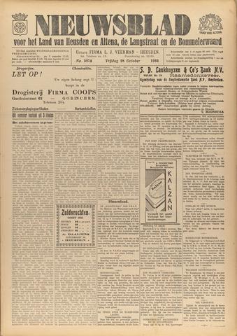 Nieuwsblad het land van Heusden en Altena de Langstraat en de Bommelerwaard 1932-10-28