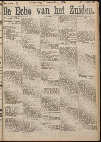 Echo van het Zuiden 1907-11-07