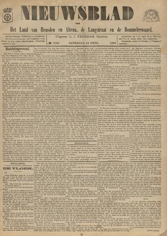 Nieuwsblad het land van Heusden en Altena de Langstraat en de Bommelerwaard 1903-02-14