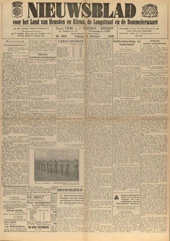 Nieuwsblad het land van Heusden en Altena de Langstraat en de Bommelerwaard 1943-02-12